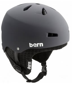 Bern Macon EPS Snowboard Helmet Matte Grey w/ Black Knit