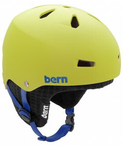 Bern Macon EPS Snowboard Helmet Matte Neon Yellow w/ Black Knit
