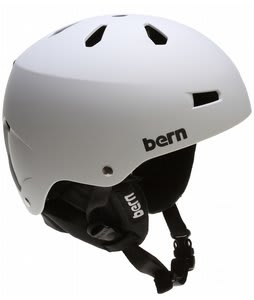 Bern Macon EPS Snowboard Helmet Matte White w/ Cordova