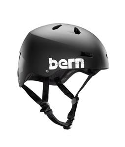 Bern Macon Summer Bike Helmet EPS Matte Black Distress Logo
