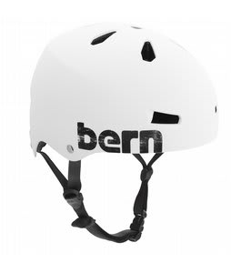 Bern Macon Summer Bike Helmet EPS Matte White Distress Logo
