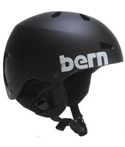Bern Macon Thin Shell w/ 8Tracks Audio Snowboard Helmet Matte Black