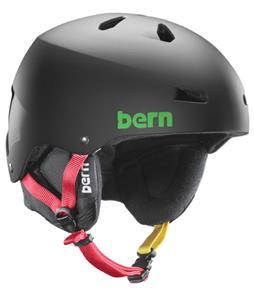 Bern Macon Thinshell Snow Helmet Matte Black Rasta/Black Cordova