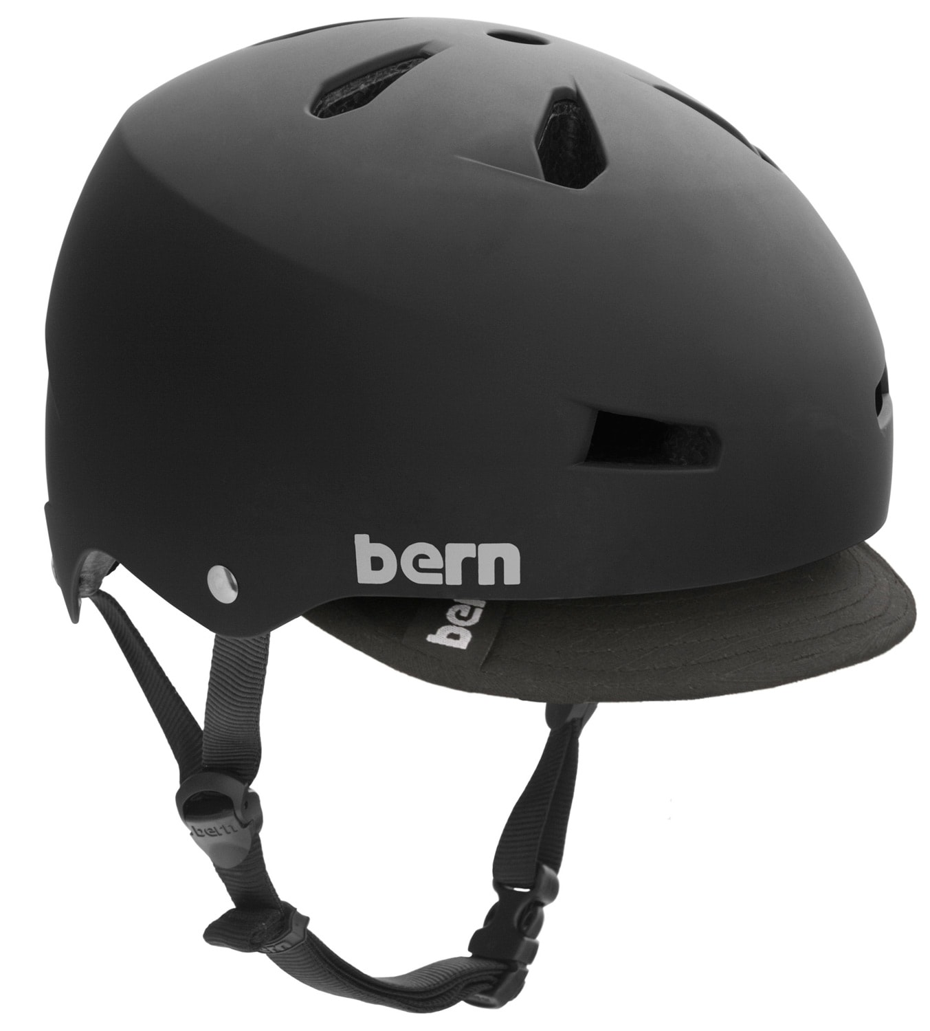 Shop for Bern Macon w/ Visor Bike Helmet Black - Men's