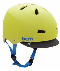 Bern Macon w/ Visor Bike Helmet Neon Yellow