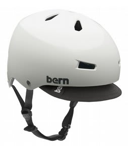 Bern Macon w/ Visor Bike Helmet White