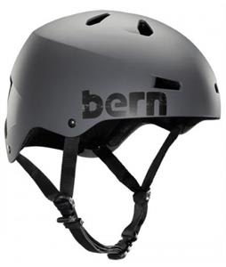 Bern Macon Water Helmets Matte Grey Distressed Logo