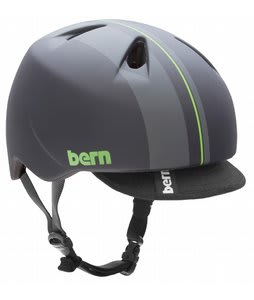 Bern Nino Bike Helmet Black/Green Racing Stripe