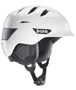 Bern Rollins Snow Helmet Satin White/Black Waxed Canvas