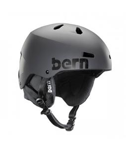 Bern Macon EPS Snow Helmet Matte Grey Distressed Logo