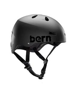 Bern Team Macon EPS Snow Helmet Satin Black w/ Grey Beanie