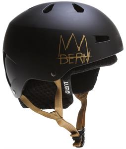 Bern Team Macon Thin Shell Snow Helmet Matte Black Crown Graphic w/ Ear Pads
