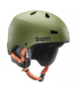 Bern Team Macon Thin Shell Snow Helmet Matte Olive Green w/ Ear Pads