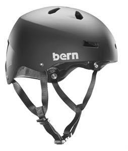 Bern Team Macon Thin Shell Snow Helmet Satin Black w/ Ear Pads