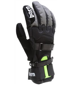 Bern Tyler w/ Removable Wristguards Gloves Black/Grey