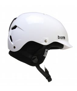 Bern Watts EPS Snowboard Helmet Gloss White/Plaid Knit