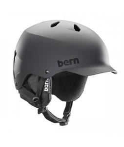 Bern Watts EPS Snow Helmet Matte Grey w/ Black Knit