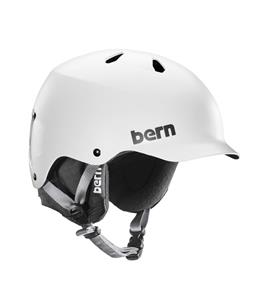Bern Watts EPS Snow Helmet Satin White w/ Black Knit