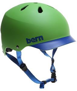 Bern Watts H20 Water Helmet Matte Neon Green/Blue Brim