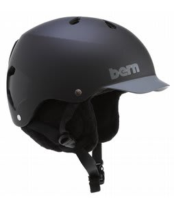 Bern Watts Snowboard Helmet Matte Black/Grey Brim/Black Knit Audio