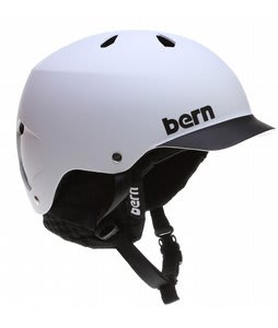 Bern Watts Snowboard Helmet Matte White/Black Brim/Black Knit