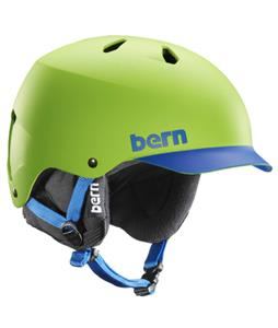 Bern Watts Thinshell Snow Helmet Matte Neon Green Brim/Black Cordova