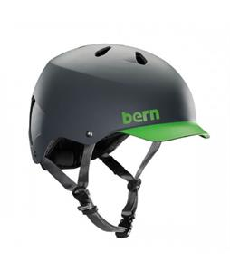 Bern Watts Water Helmet Matte Grey/Neon Green Brim