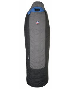 Big Agnes Fish Hawk 30 Regular Left Sleeping Bag Gray/Black