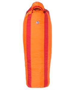 Big Agnes Gunn Creek 30 Left Long Sleeping Bag 3 Season Orange/Red