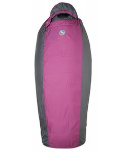 Big Agnes Lulu 15 Regular Right Sleeping Bag Raspberry/Gray