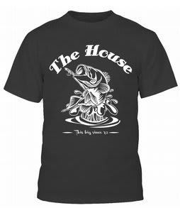 House Big Bass T-Shirt Black