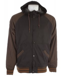 Billabong Baldwin Baseball Zip Jacket Brown