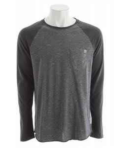 Billabong Cable Raglan Shirt Black Heather