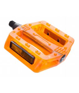 Black Ops Gummy BMX Pedals Translucent Orange 1/2