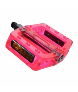 Black Ops Gummy BMX Pedals Translucent Red 1/2
