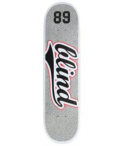 Blind Athletic Skin SS Skateboard Grey/Red 7.9in