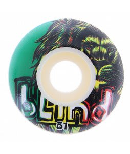 Blind Lion Standard Skateboard Wheels White/Rasta