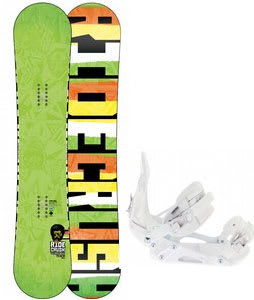 Ride Crush Wide Snowboard w/ Ride EX Snowboard Bindings
