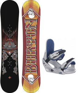 Burton TWC Smalls Snowboard w/ Burton Freestyle Jr Bindings Lt Grey