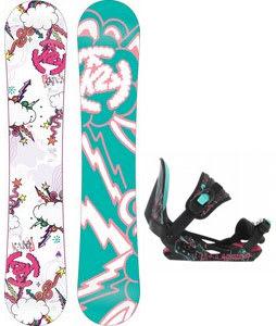 K2 Lil Kandi Snowboard w/ Rossignol Rookie Bindings Black