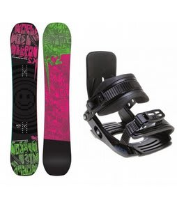 K2 WWW Rocker Snowboard w/ Salomon Team Bindings Black