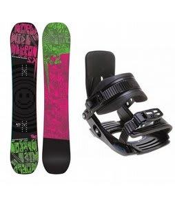 K2 WWW Rocker Snowboard w/ Salomon Team Bindings Black