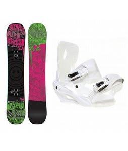 K2 WWW Rocker Snowboard w/ Sapient Zeus Bindings White