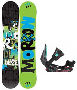 Morrow Blaze Snowboard w/ Rossignol Rookie Bindings Black