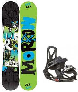 Morrow Blaze Snowboard w/ Sapient Prodigy Bindings Black