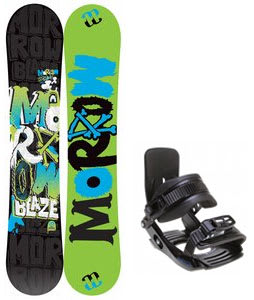 Morrow Blaze Snowboard w/ Salomon Team Bindings Black