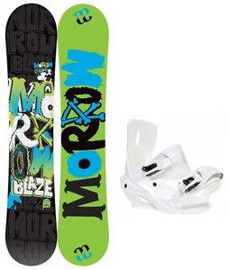 Morrow Blaze Snowboard w/ Sapient Zeus Bindings White