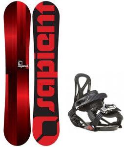 Sapient Fader Snowboard w/ Sapient Prodigy Bindings Black