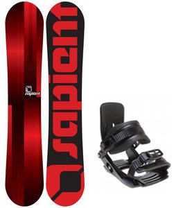 Sapient Fader Snowboard w/ Salomon Team Bindings Black