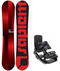 Sapient Fader Snowboard w/ Salomon Team Bindings Black